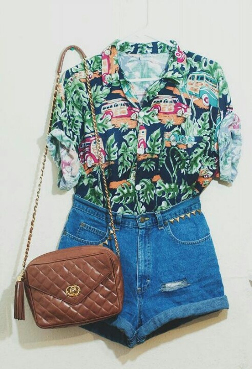 These prints can be super bold and vintage scaring a lot of people away including myself, but try to pick out colors that bring out your skin tone, eyes, or hair color.  Also, Hawaiian print looks really good on, can be super comfortable, and is paired well with jeans:)