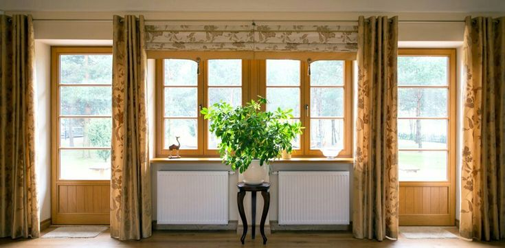 Natural plants always fit into natural meranti windows.