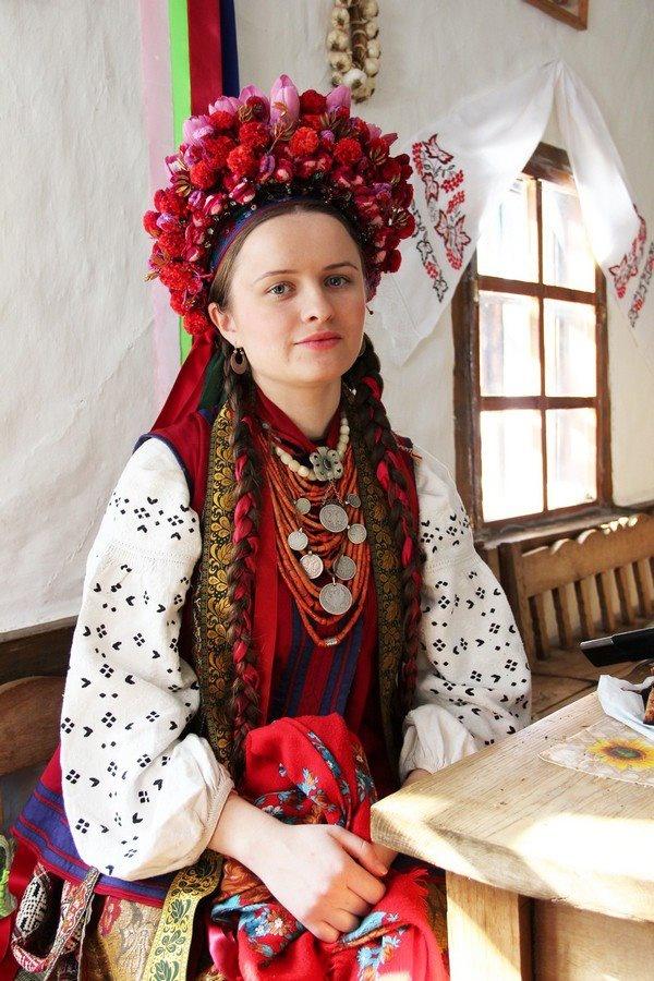 Traditional dress A bride from Poltava region
