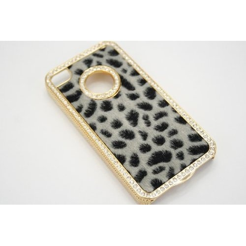 Amazon.com: Luxury Designer Bling Crystal Leopard Cheetah Fur Hard Case Cover for Apple IPhone 4 4S: Electronics
