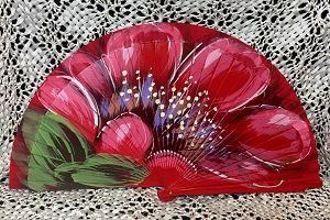 hand painted hand fans - Google Search