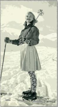 Ski Skirt. Undated/Uncredited Image.