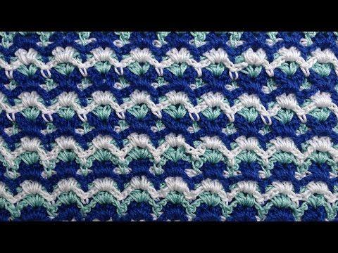 Zigzag crochet pattern Узор вязания зигзаг 31 - YouTube