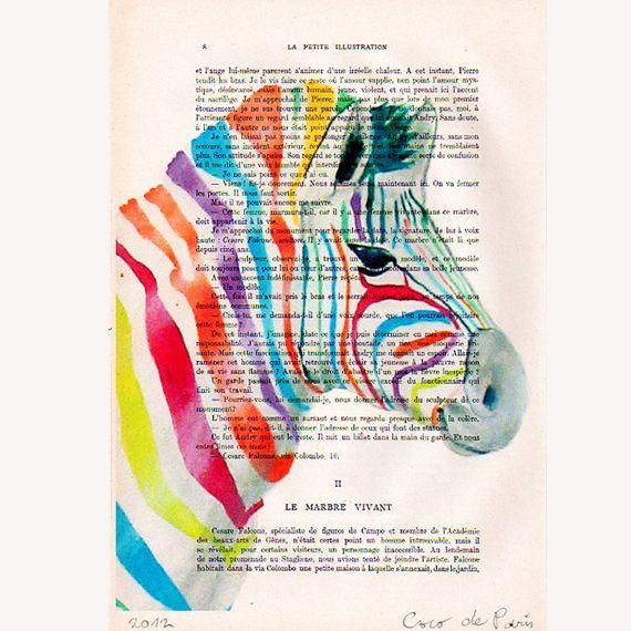 Regenbogen Zebra