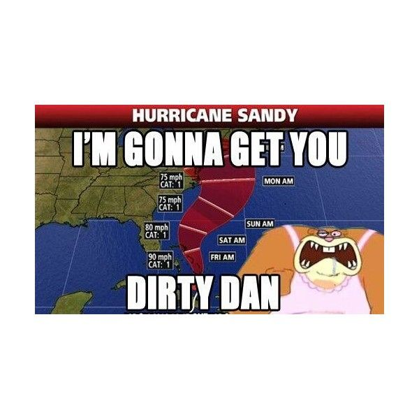 These Hurricane Sandy 'Spongebob' and 'Grease' Memes Are Spreading... ❤ liked on Polyvore