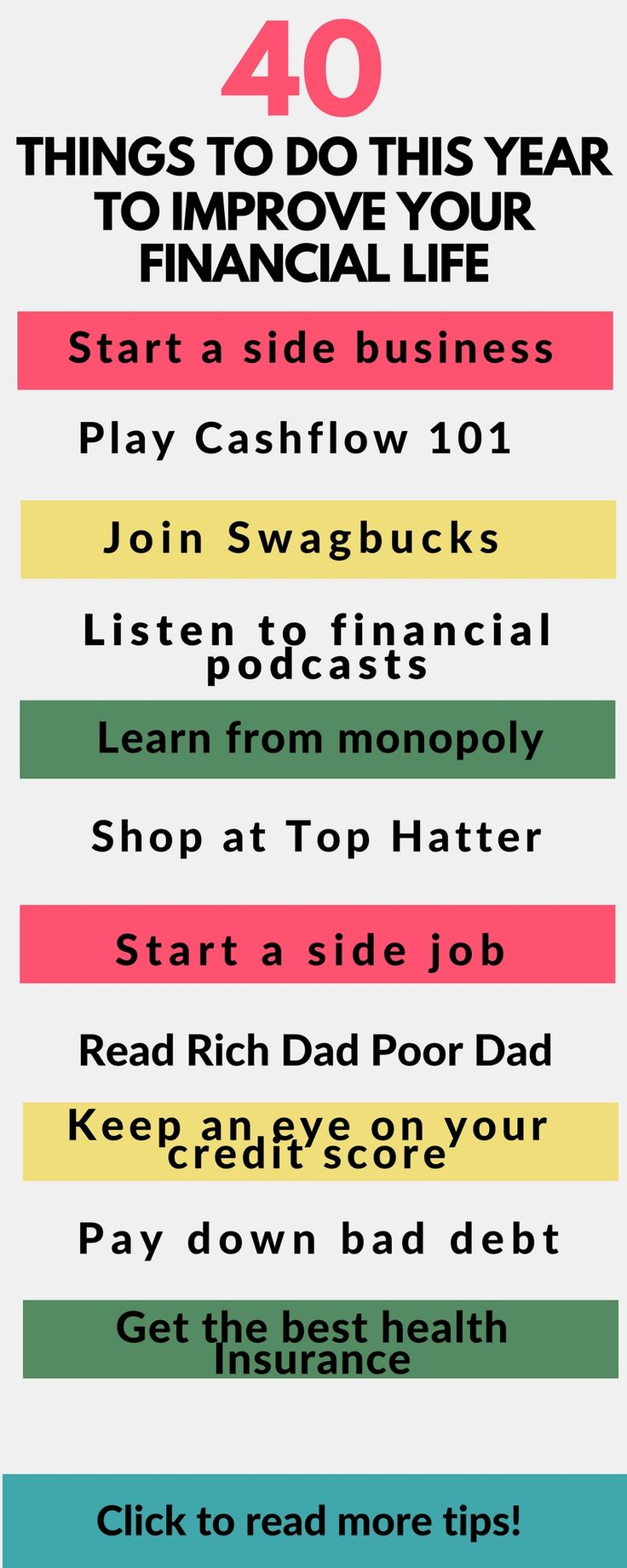 The best tips to improve your finances this year} Money tips