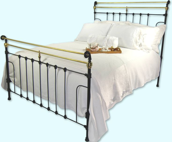 Antique Cast Iron Bed Frame Queen Size, antique cast iron, antique wrought iron bed, antique metal bed, antique sleigh bed, iron bed by AntiqueCastIronBeds on Etsy https://www.etsy.com/listing/563276484/antique-cast-iron-bed-frame-queen-size