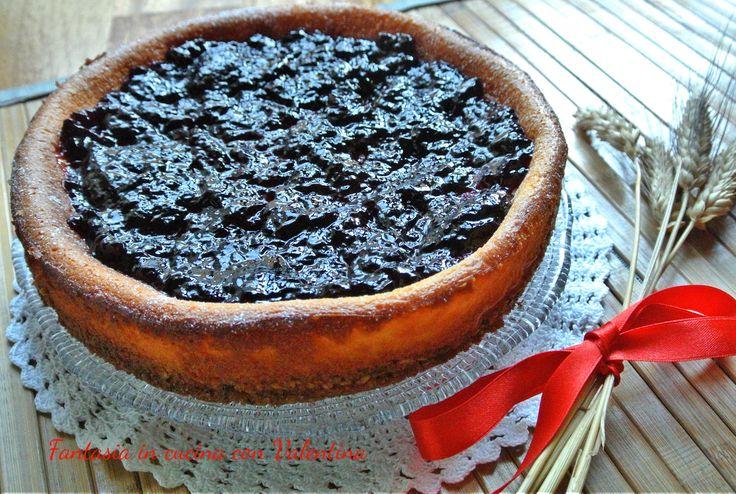 Cheesecake+cotta+muesli+e+mirtilli