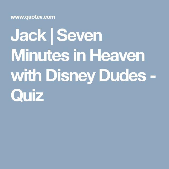 Jack | Seven Minutes in Heaven with Disney Dudes - Quiz