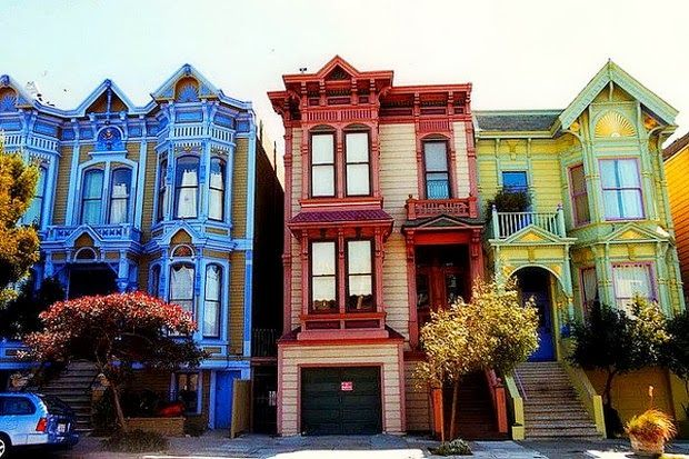 Stick style or eastlake style victorian houses in san for San francisco victorian houses