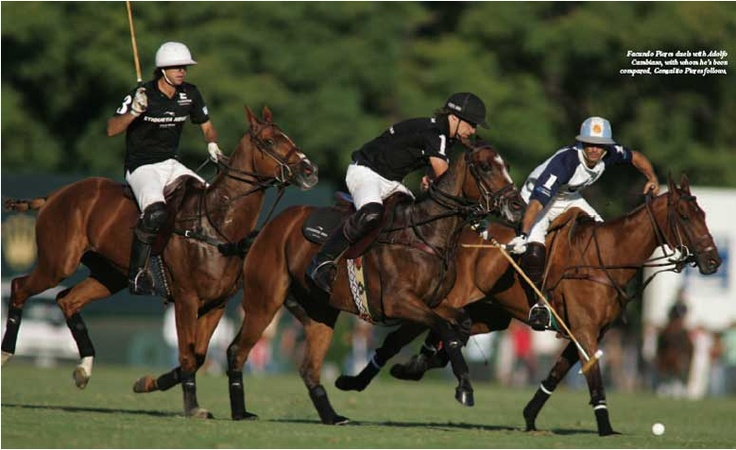 A polo match lasts about 2 hours and is divided into 6 timed periods called chukkers. The object of the game is to hit the ball down the field and through the goal posts to score.