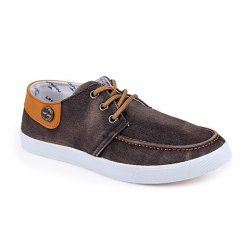 $16.07 Trendy Men's Canvas Shoes With Metal and Color Matching Design