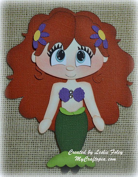 Disney Princess Ariel Premade Scrapbooking by MyCraftopia on Etsy