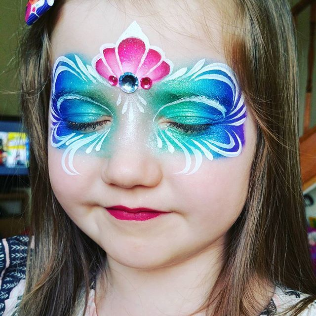 Mermaid Mask  #facepaint by janeyoung89