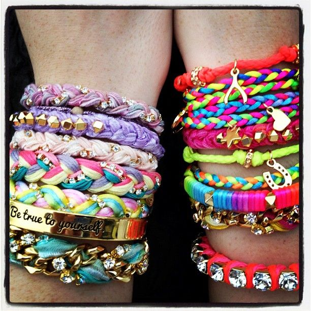 F is for Friends who rock bracelets together.