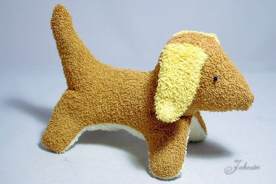 "Hund ""Frido"" aus alten Handtüchern / Dog ""Frido"" made of old towels"