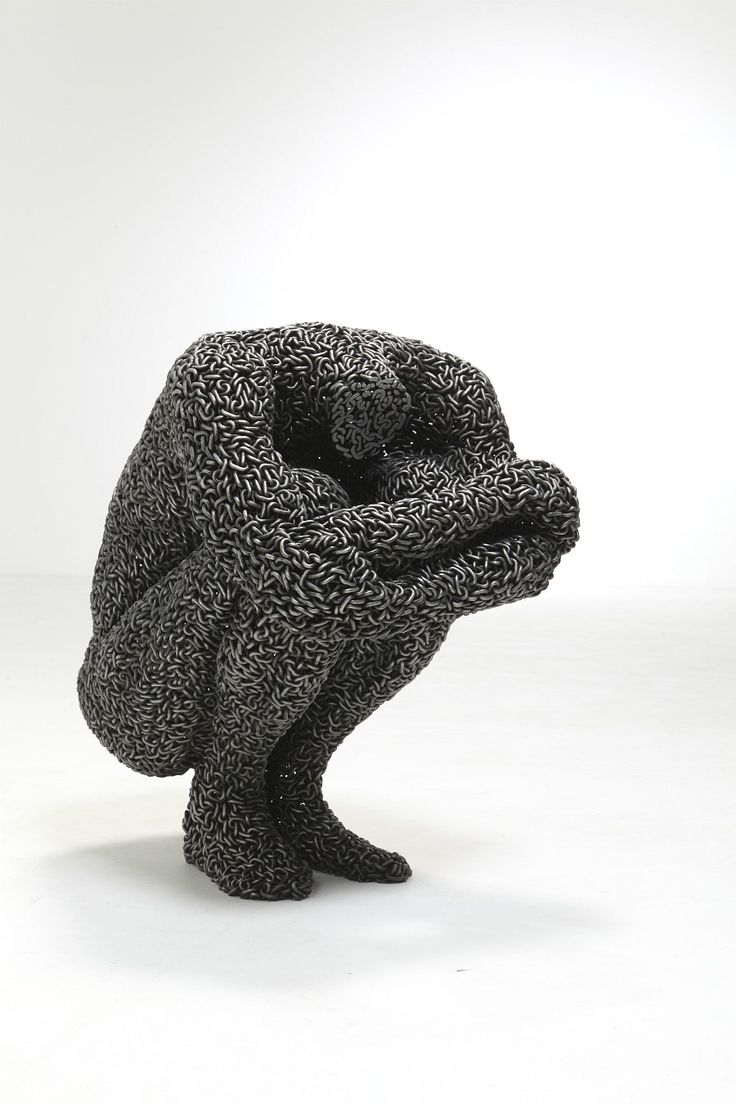 Korean artist creates sculptures out of solidified chains. Really epic work.