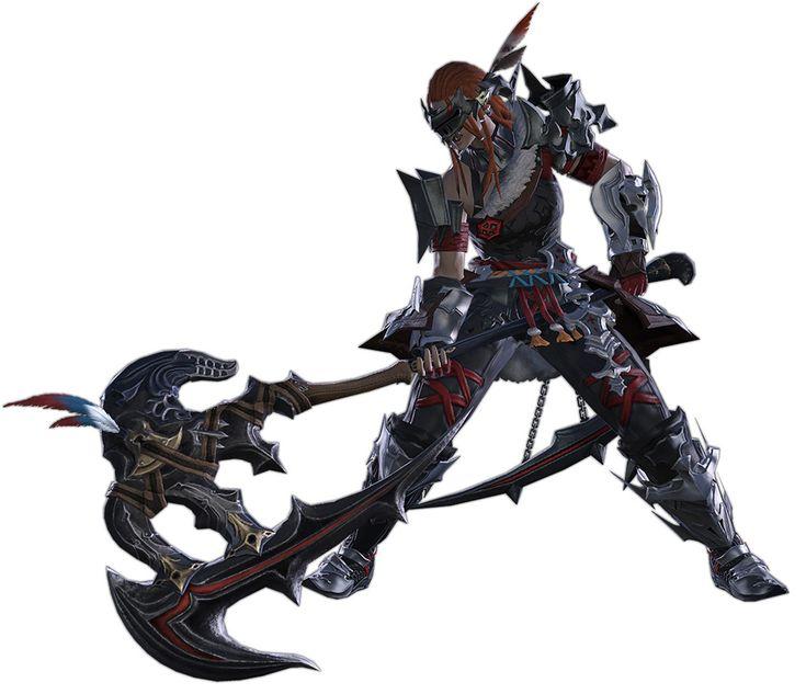 Warrior Render from Final Fantasy XIV: Stormblood