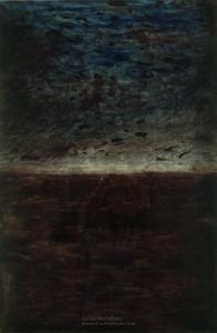 Colin McCahon - A poem of Kaipara Flat no. 5