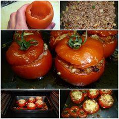 Viernes siii! Vamos a celebrarlo con una receta sencilla pero sabrosa! Tomates Rellenos de carne molida! Mmmm ;)