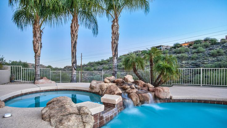 Pool and Spa ||  #FountainHills #Arizona #AZ #Luxury #Architecture #Home #Homes #Design #Lifestyle  #DreamHouses #Inspiration #Real #Estate #Agent #Ideas #Style #House #House #Houses #Elegant #Sophisticated #Comfort #Style #ForSale #ForSaleByOwner #inScottsdale #inArizona #Houses #Aerial #Desert #Mountain #View #Exterior #Adobe #Desert #Landscaping #Yard #BackYard #Southwest #Southwestern #Architecture #Patio #Pool #HotTub #Boulders #Waterfall #WaterFeature