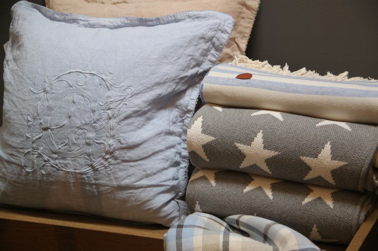 Gant Home star & linnen plaids and cushion earth tones. by Hedges