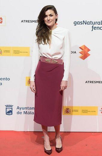 Marta Nieto con vestido de Iván Campaña y cinturón joya de Mibúh