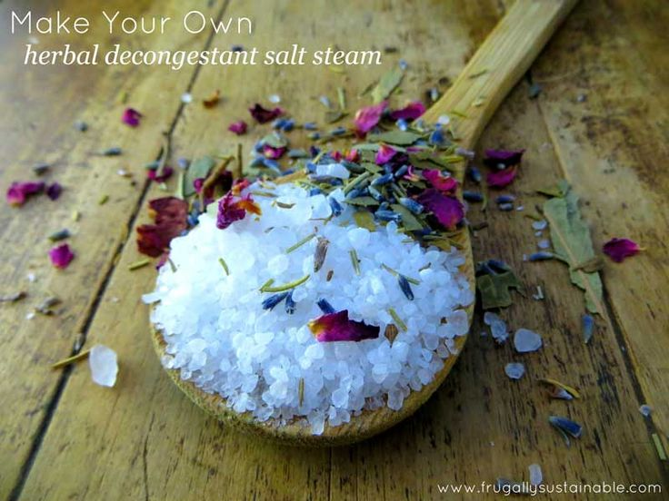 How to Make Your Own Herbal Decongestant Salt Steam