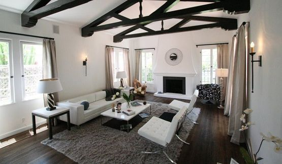 Dark Wood Floors Living Room Color Combinations Rooms Pinterest