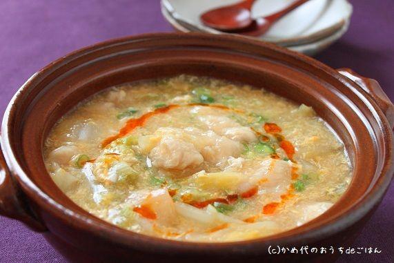 白菜とささみのトロトロ卵スープ 風邪気味のときに | かめ代オフィシャルブログ「かめ代のおうちdeごはん」Powered by Ameba