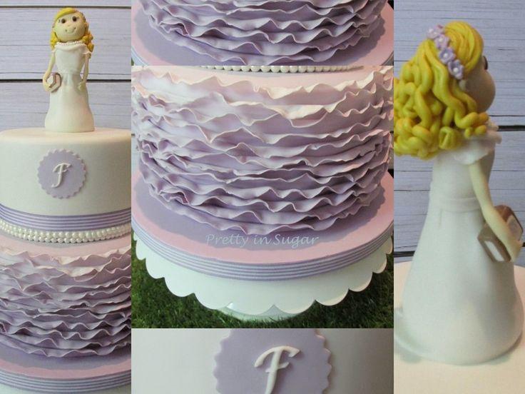 1ª Comunhão em Alfazema | Lavender First Communion cake