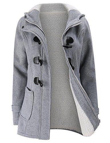 SALE PRICE -  32.99 - Gihuo Women s Casual Fleece-Lined Winter Warm Coat  Hooded Jacket e6443bbbc