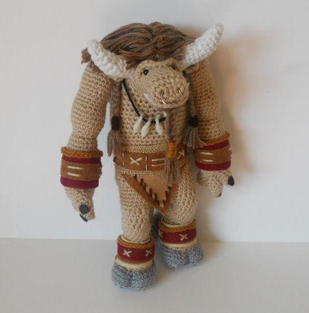 World of Warcraft Tauren, crochet amigurumi. For the horde!