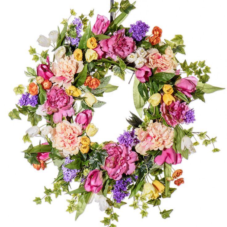 All Dressed Up Spring Wreath (SW607F) - Spring Wreath
