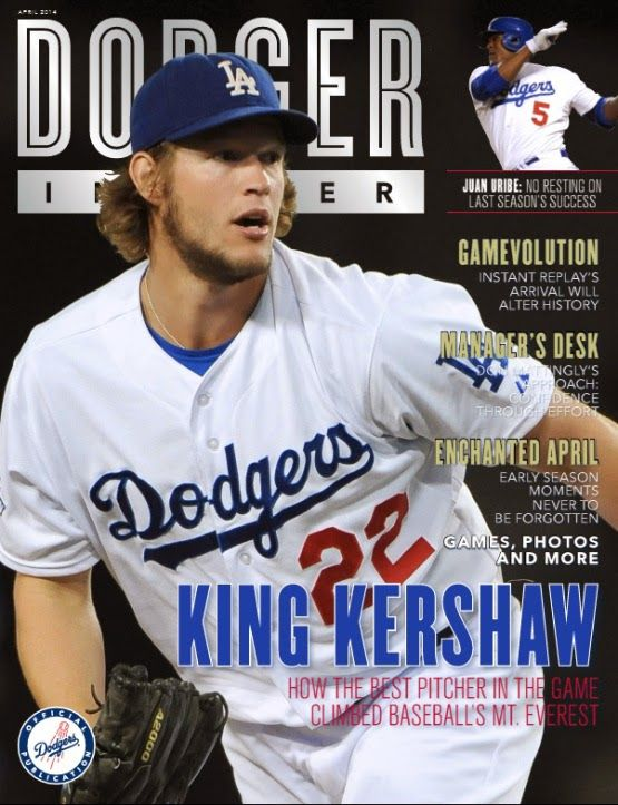 The newest issue of the Dodger Insider features Clayton Kershaw on the cover.