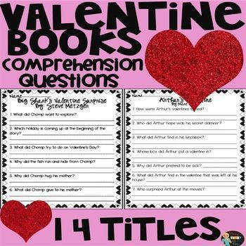 Valentine's Day Books Comprehension Questions                       The  Valentine Bears By Eve Bunting