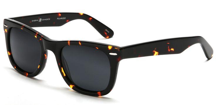 Verona Polarized Wayfarer Sunglasses Dark Brown