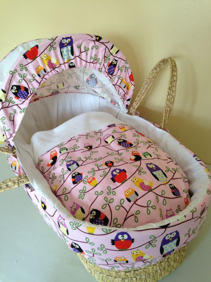 A beautiful owl Moses basket cover I have made.