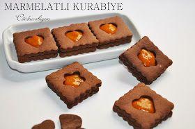 Butik kurabiye,yemek ve tatlı tarifleri,Turkish cuisine: MARMELATLI İKİLİ KURABİYE