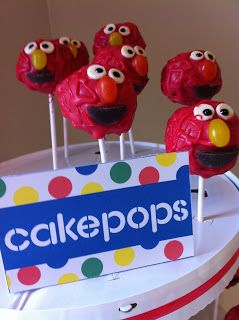 Elmo's cake pops