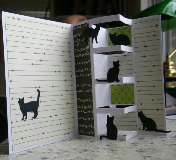 Cute card cut with Impression Obsession Die Cut #DIE083-K   cats...