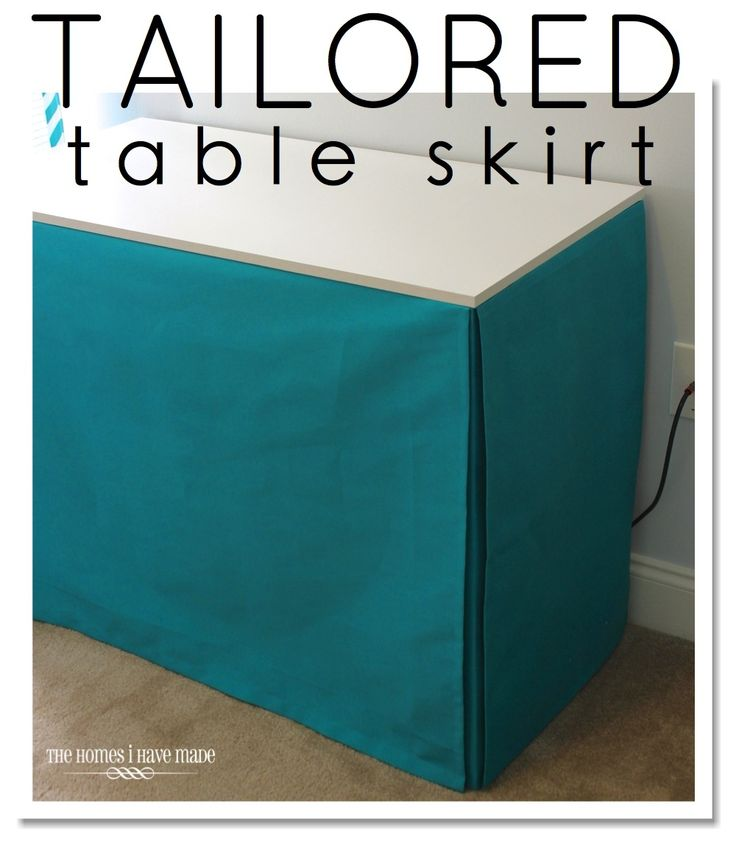 tutorial on how to skirt a table - the easy ways! Tailored Table Skirt from The Homes I Have Made