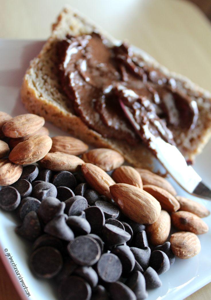 Homemade Chocolate Almond Butter, make yours here >> http://girlmeetsnourishment.com/gmnwordpress1/homemade-chocolate-almond-butter/