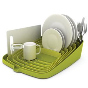 Joseph Joseph Arena Self-Draining Dishrack Green Wasabi