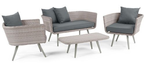Midcentury-inspired Laysan lounge set at Made