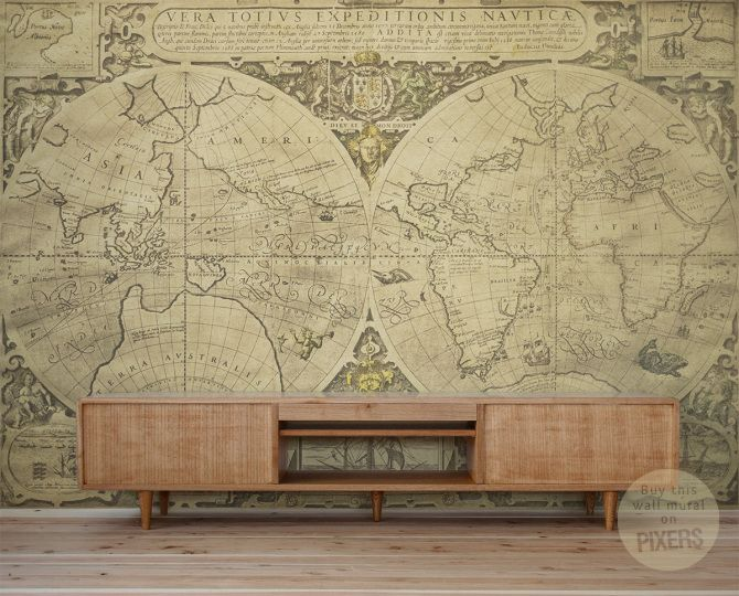 35 best wall dcor maps images on pinterest flags location map vintage world map wall mural by pixers eclectic wallpaper gumiabroncs Gallery