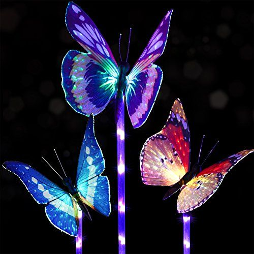 Doingart Garden Solar Lights Outdoor 3 Pack Solar Stake