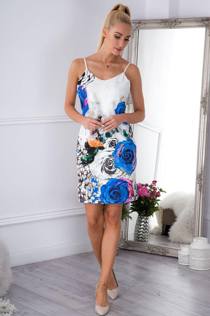 Drukowana sukienka w kwiaty 8254