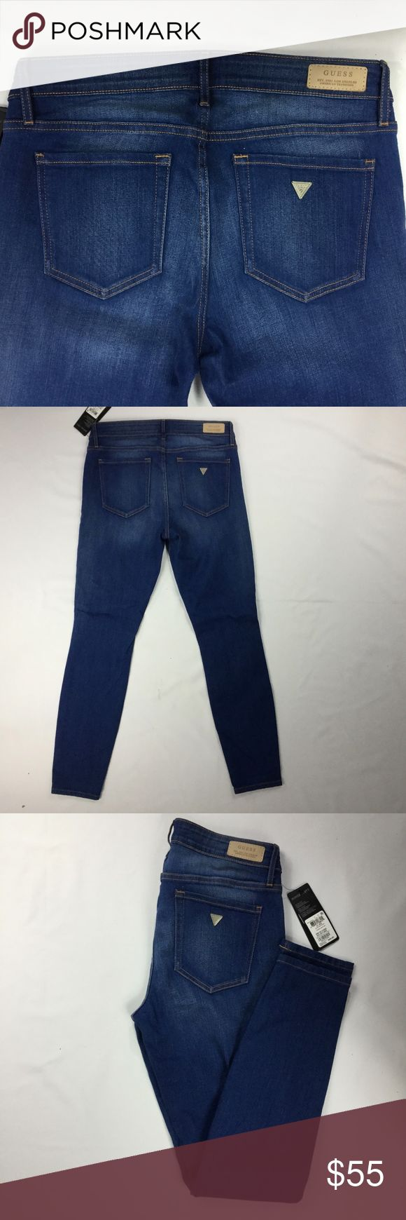"""GUESS Power Curvy MidRise Chula Vista Wash Skinny GUESS Power Curvy Mid Rise Chula Vista Skinny Jean  NEW* WITH TAGS  BRAND: Guess SIZE: 31  STYLE: Skinny Jean   COLOR: Chula Vista Blue CONDITION: New with Tags / No Visible Flaws  MEASUREMENTS IN INCHES  WAIST: 15.5"""" RISE: 9.5"""" HIP: 18.5"""" OPENING: 5.5"""" INSEAM: 30.5""""  curvy mid rise skinny denim blue wash skinny jean Guess Jeans Skinny"""