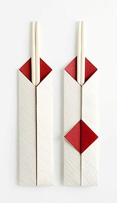Such Refinement! A chopstick wrapper done at the Origata Design Institute…(Courtesy of Origata Design Institute) via PingMag